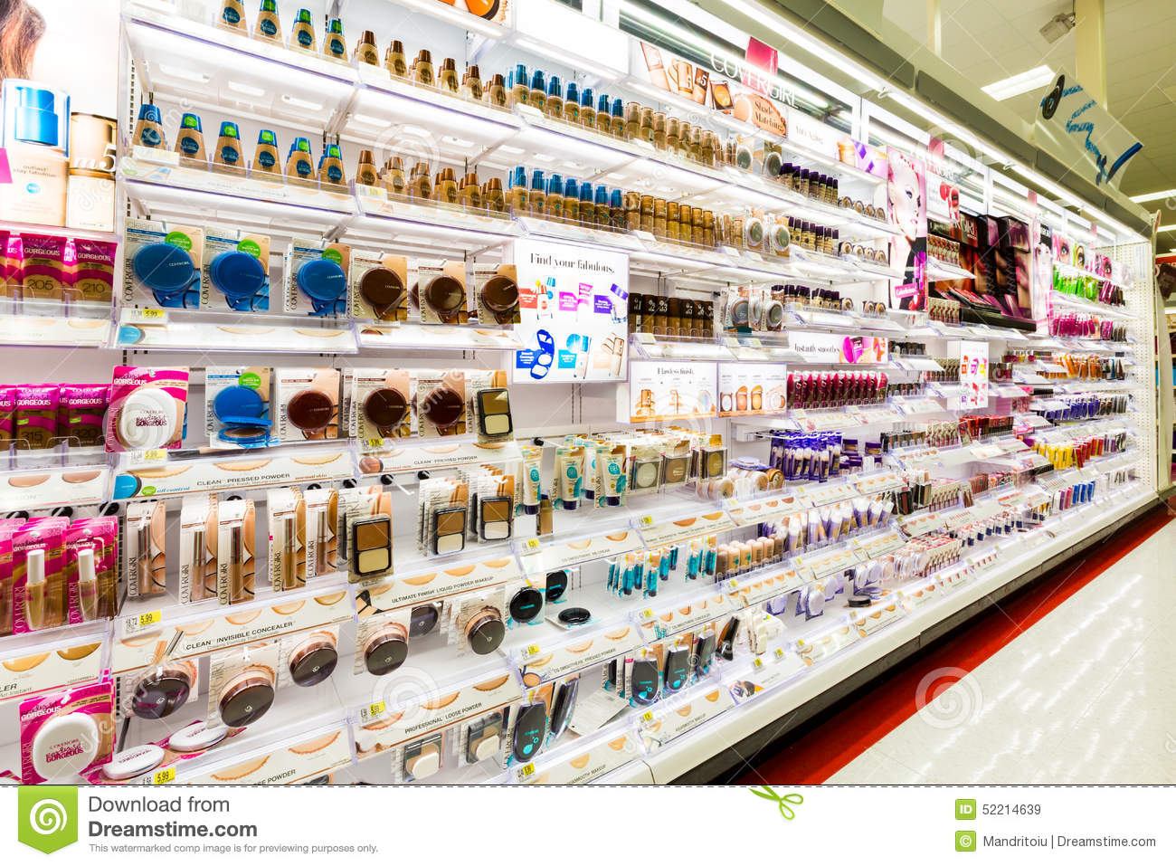 Shelves With Cosmetics In A Target Store Editorial Stock ...