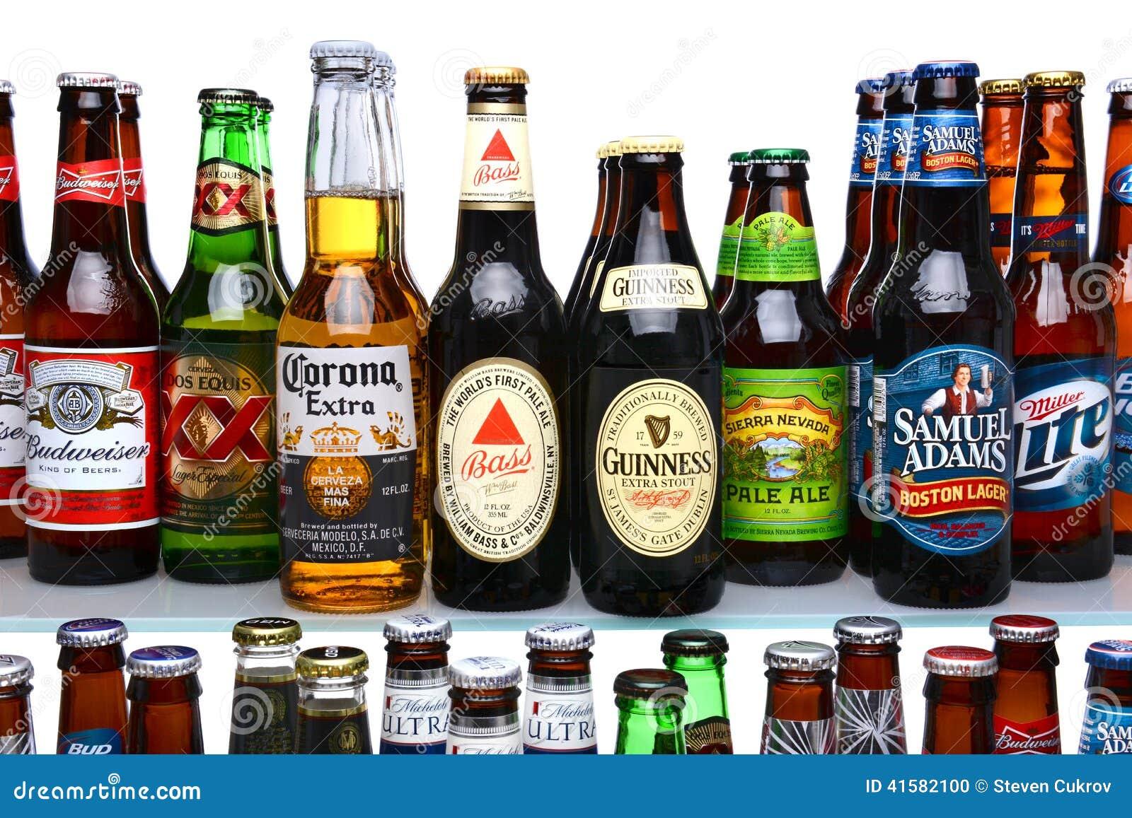 of beer brands on shelves  Z Beer Brands