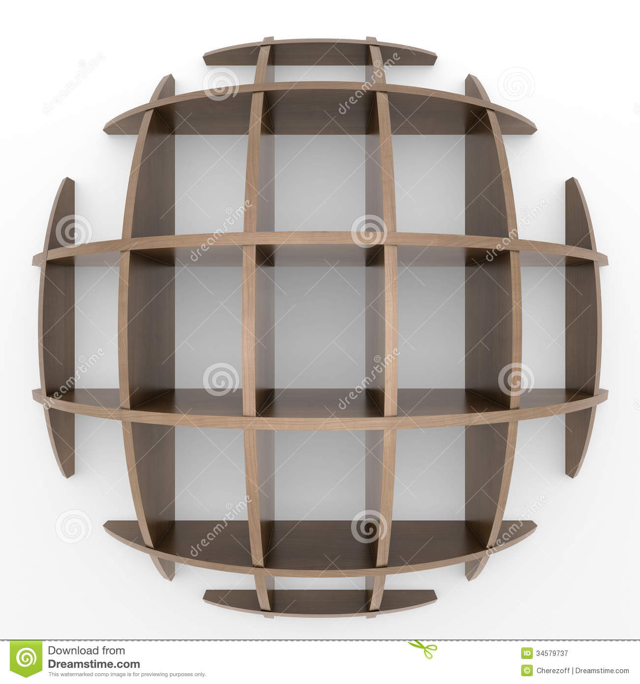Shelves In The Shape Of A Circle Royalty Free Stock Photography - Image: 34579737