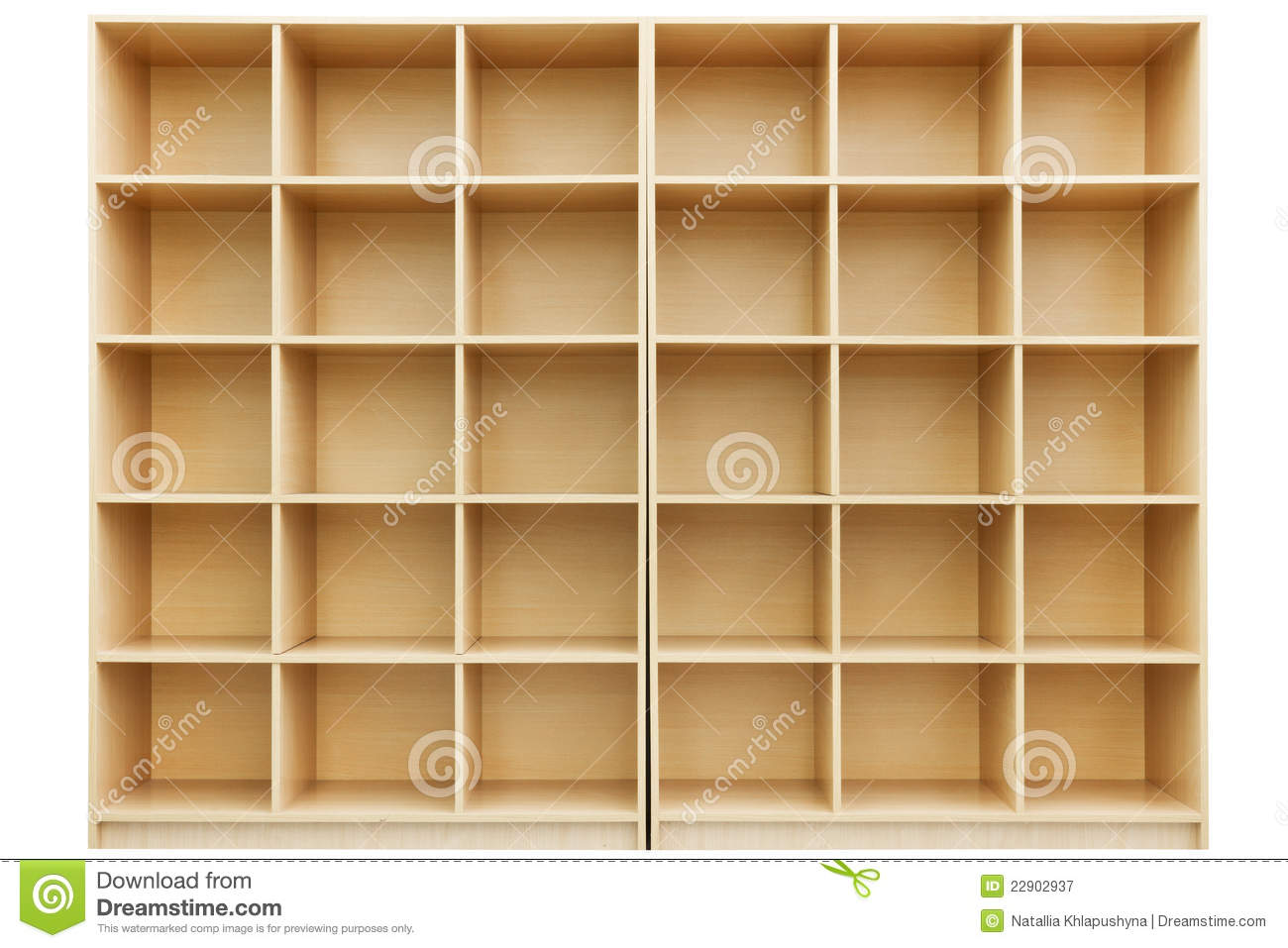 Shelves, Small Wooden Box With Cells Royalty Free Stock ...