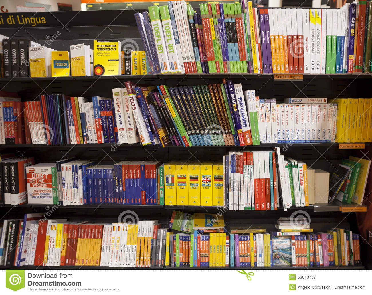 Shelving With Language Books Editorial Photography - Image: 53013757