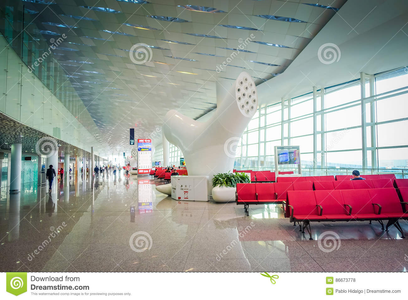 Art Photography In Modern Airport Interior