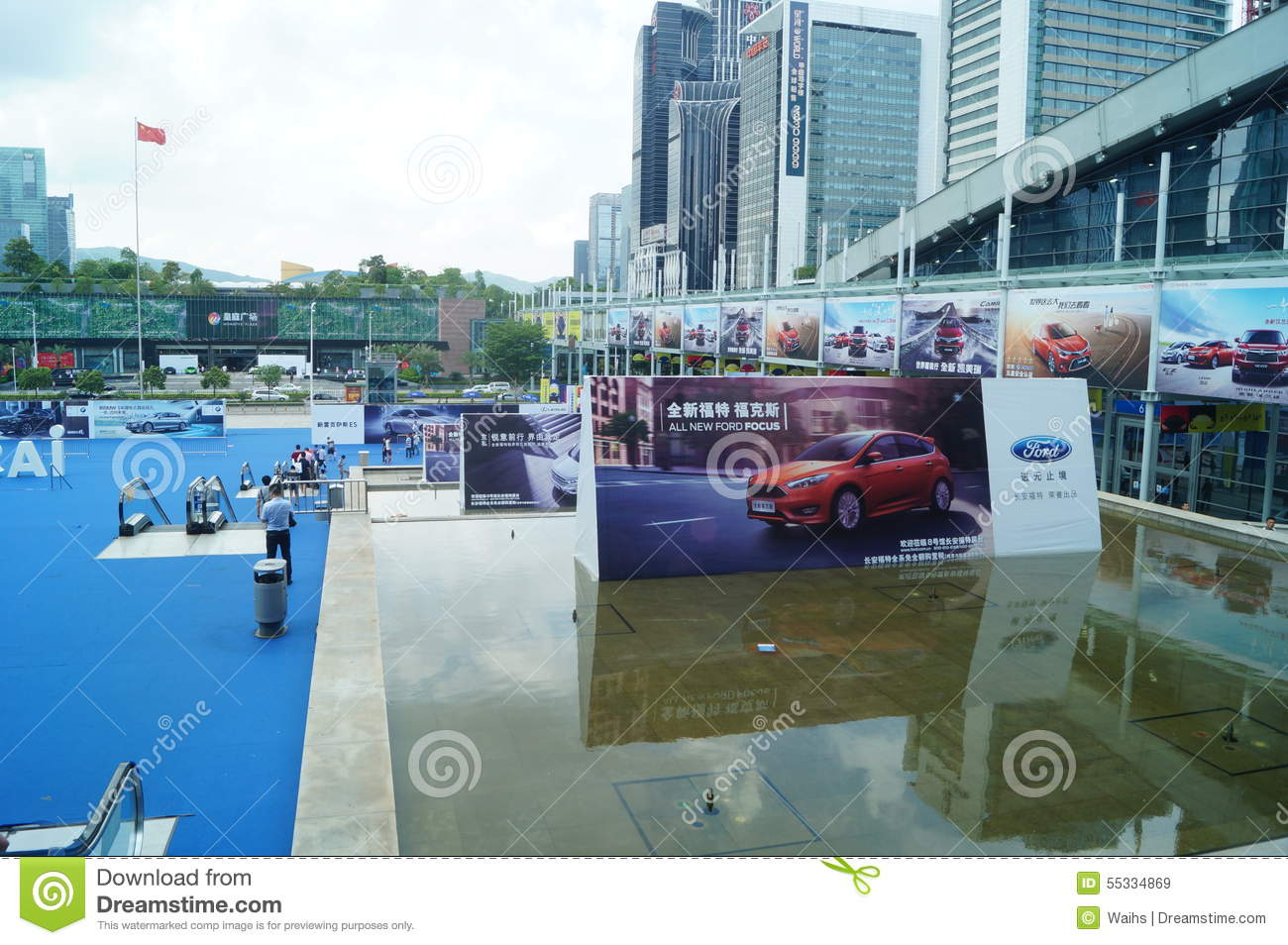 Shenzhen China Auto Exhibition Sales Editorial Stock