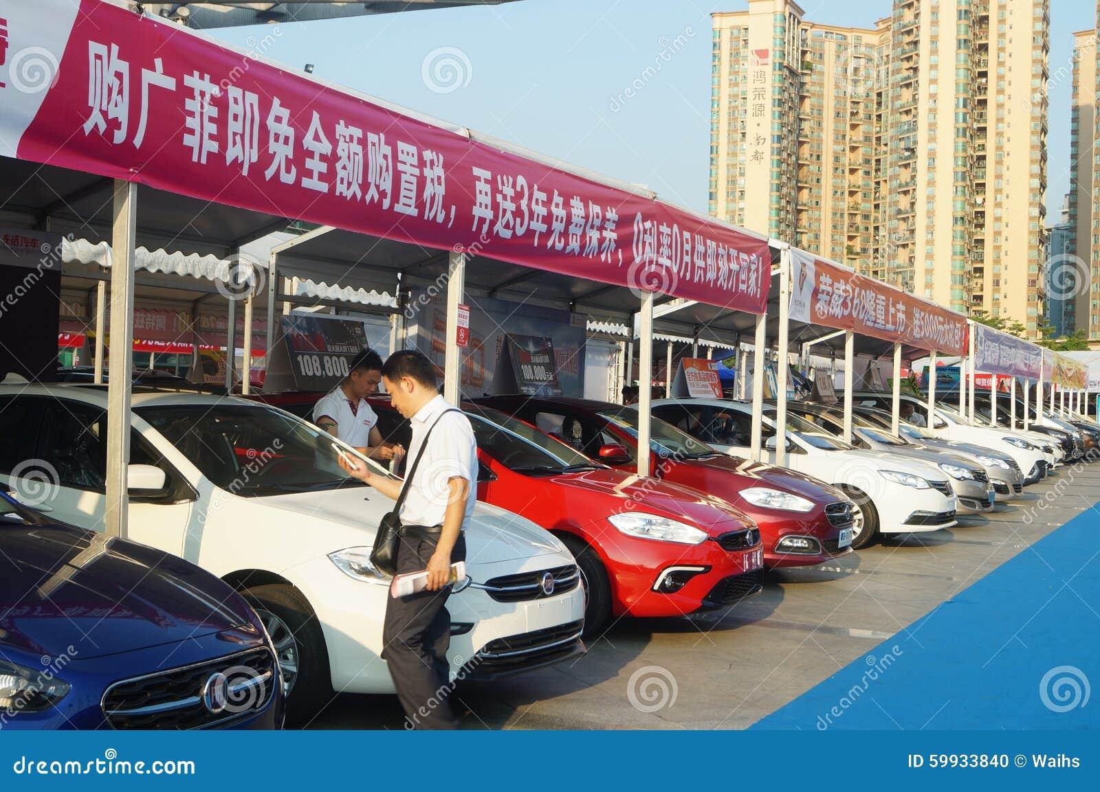 Shenzhen, China: auto vendas da exposição