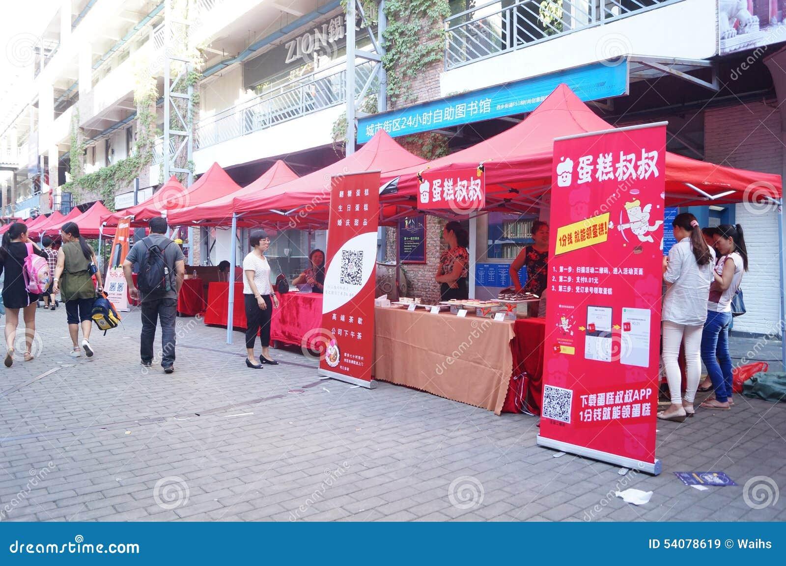Shenzhen, China: de bevorderingsactiviteiten van het cakemerk