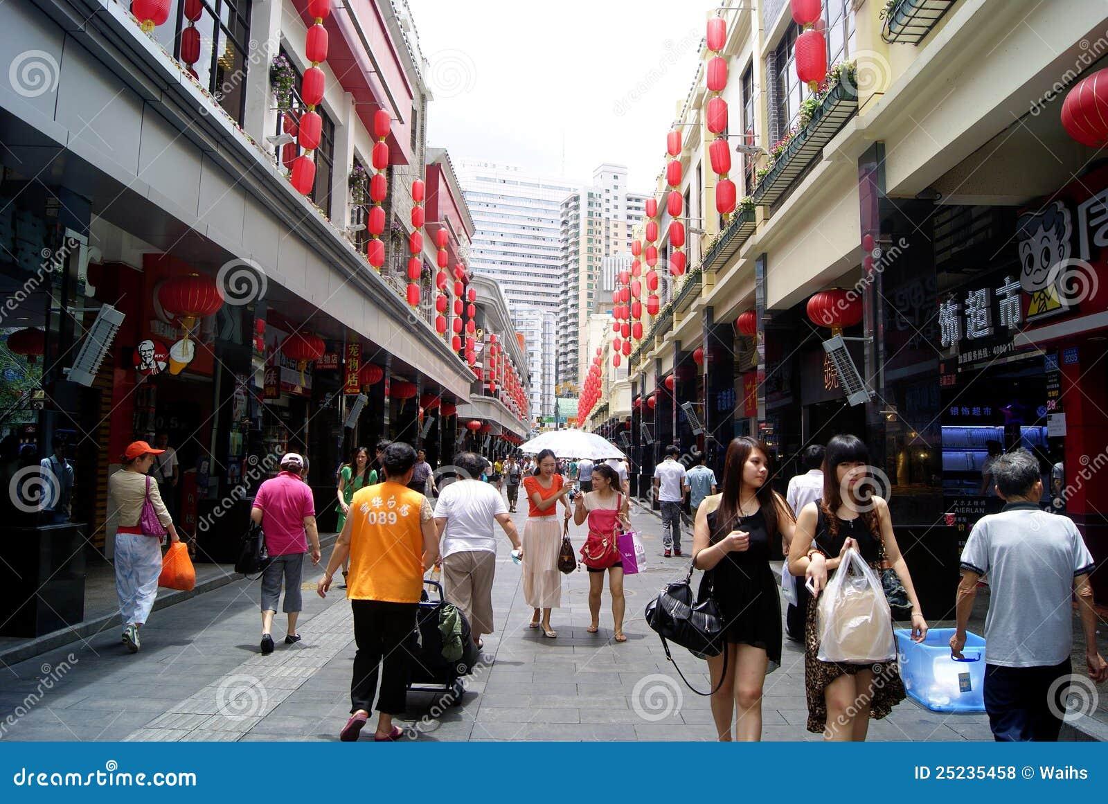Shenzhen China Men Old Street Editorial Stock Photo