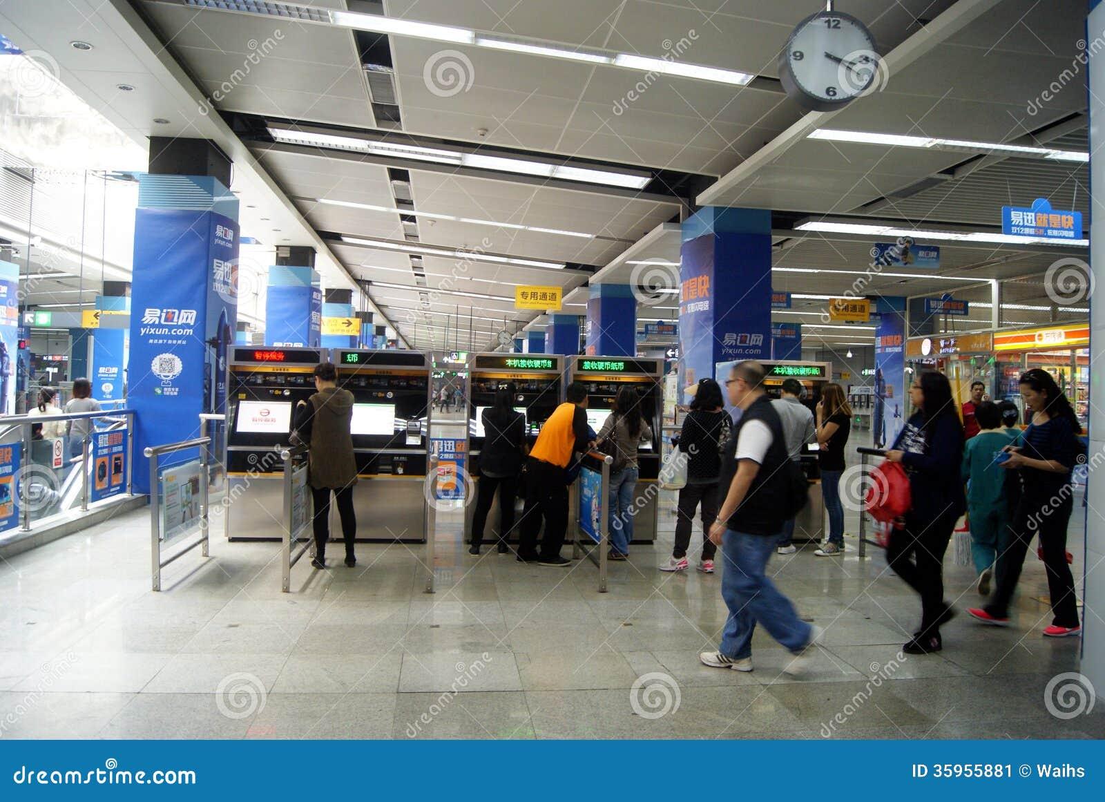 Shenzhen, China: estación de metro