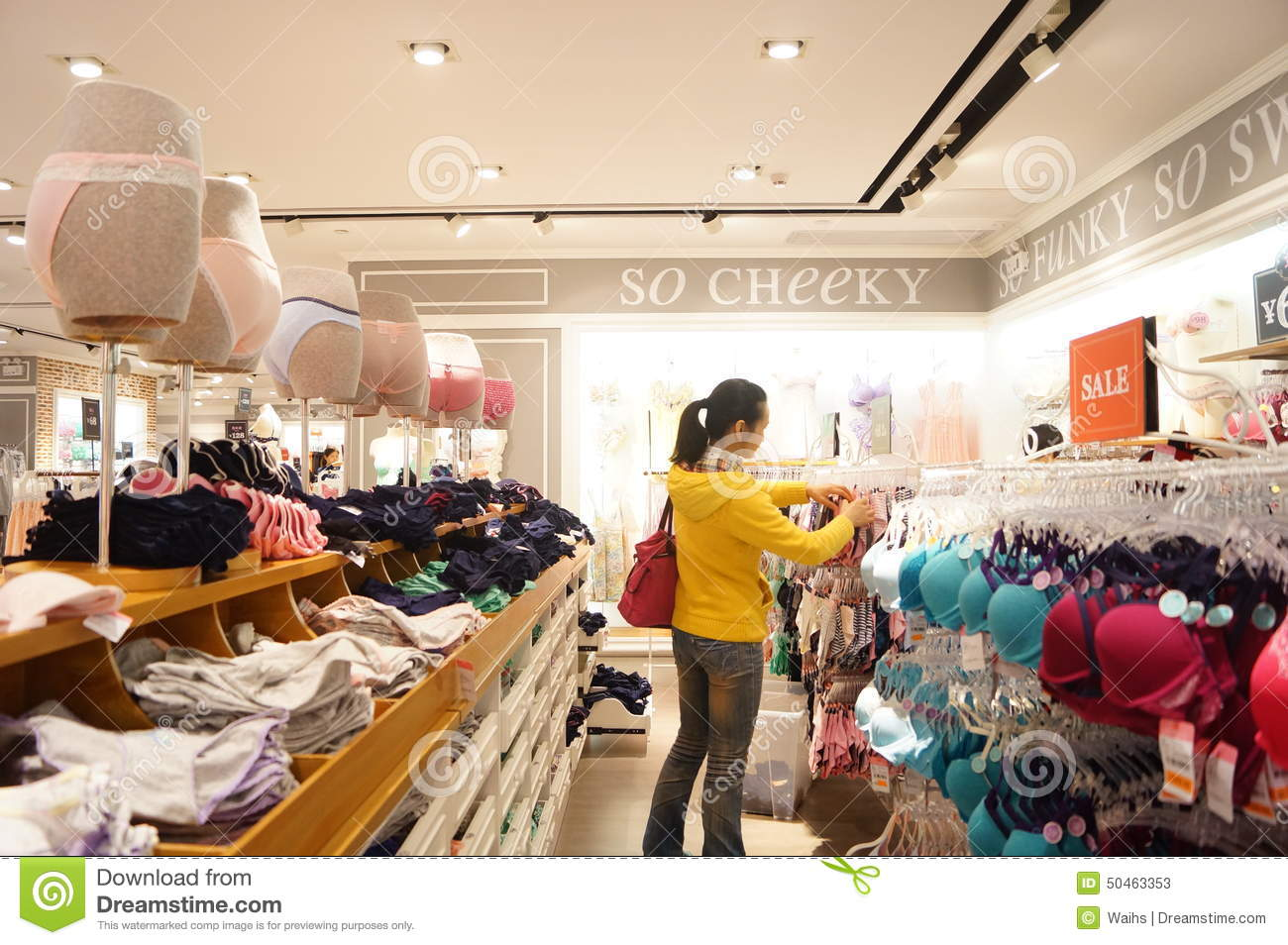 Shenzhen, China: Female Underwear Shop Editorial Stock Photo ...