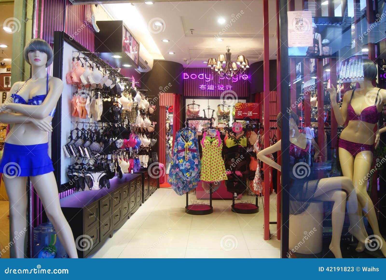 Shenzhen China Female Underwear Shop Editorial Stock