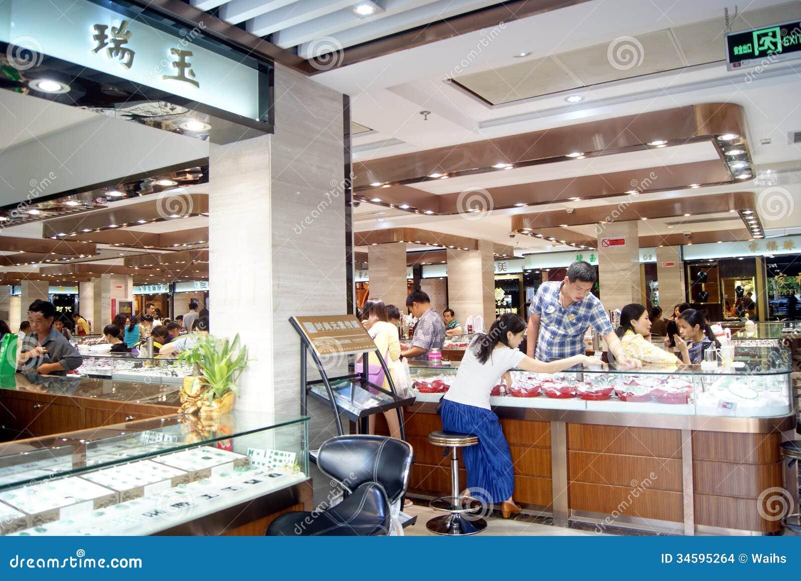 shenzhen china jewelry store editorial stock image