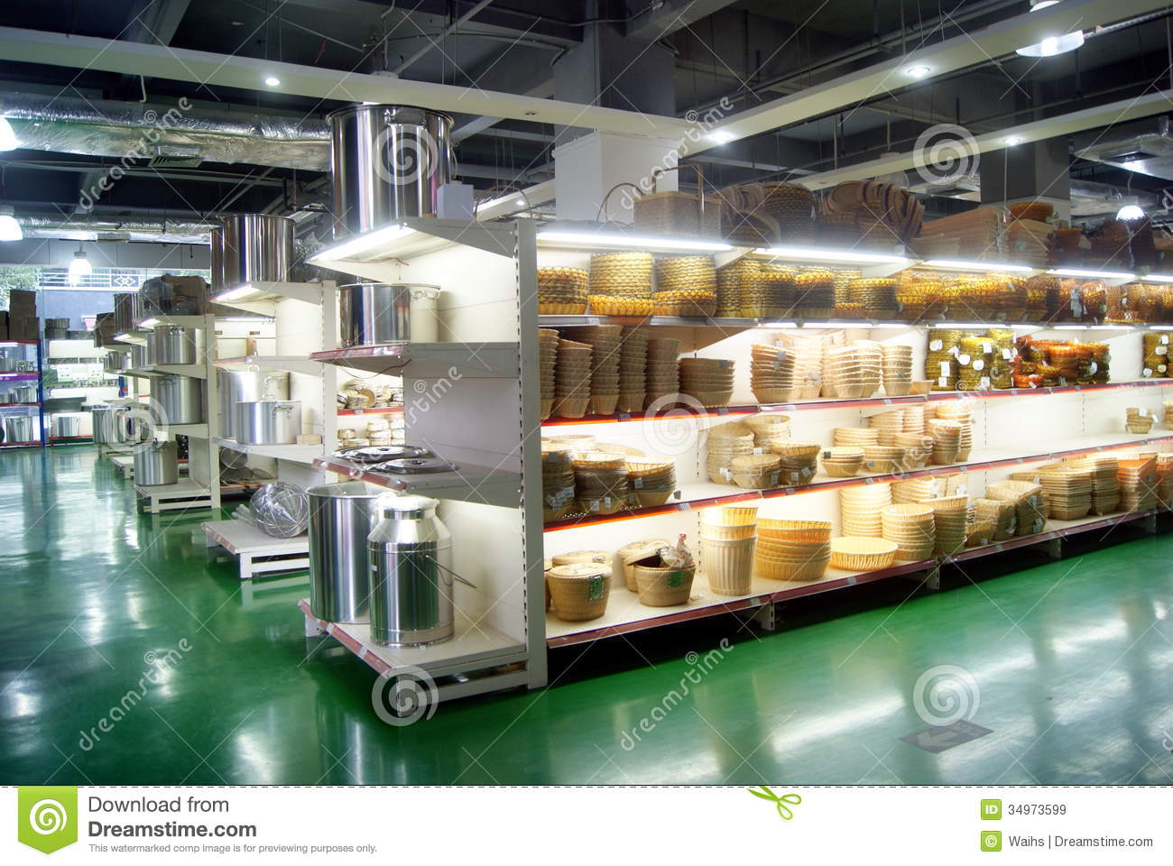 Shenzhen, China: Kitchen Supplies Shopping Center Editorial Stock ...