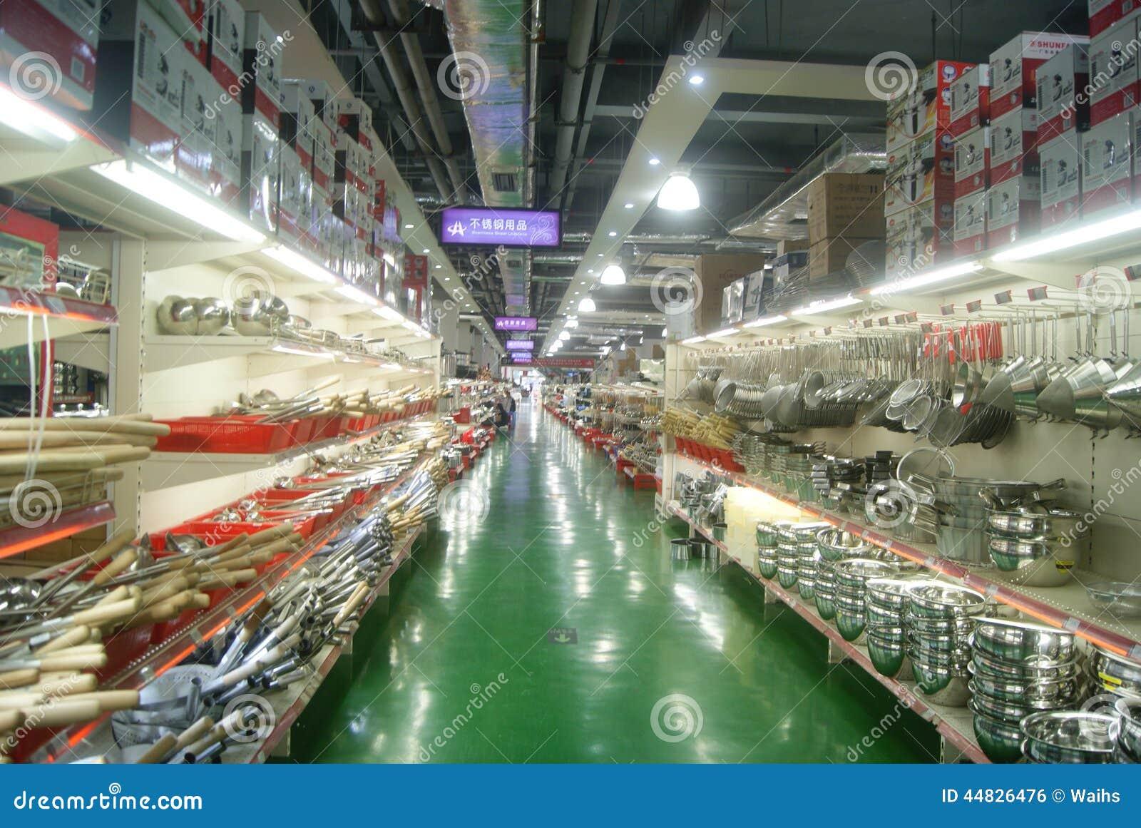 Kitchen Supplies Store | Shenzhen China Kitchen Supplies Store Editorial Photo Image Of
