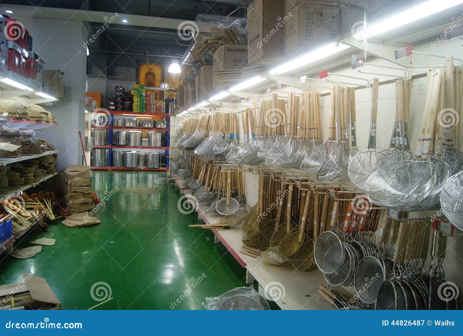 Shenzhen, China: Kitchen Supplies Store Editorial ...