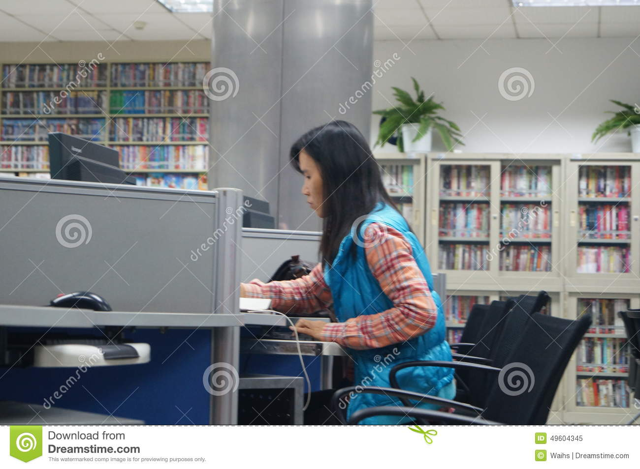 Shenzhen, China: Library of Internet cafes