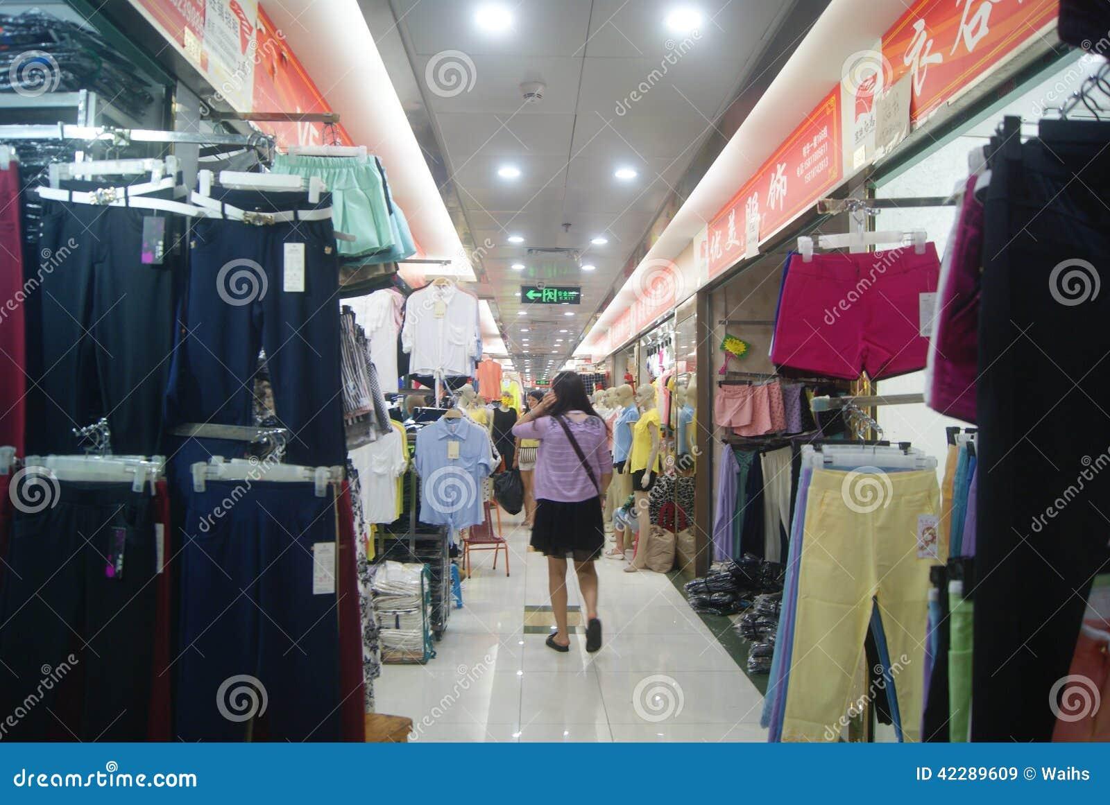shenzhen china mercado al por mayor de la ropa imagen de