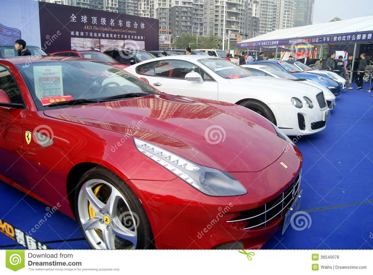 Shenzhen china second hand cars sales editorial stock for Mercedes benz second hand cars