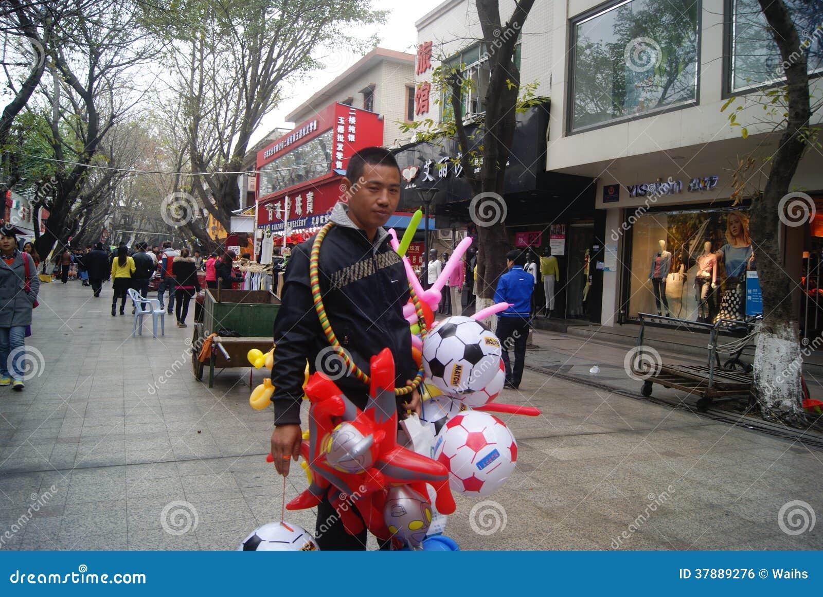 Shenzhen, China: voetstraatlandschap