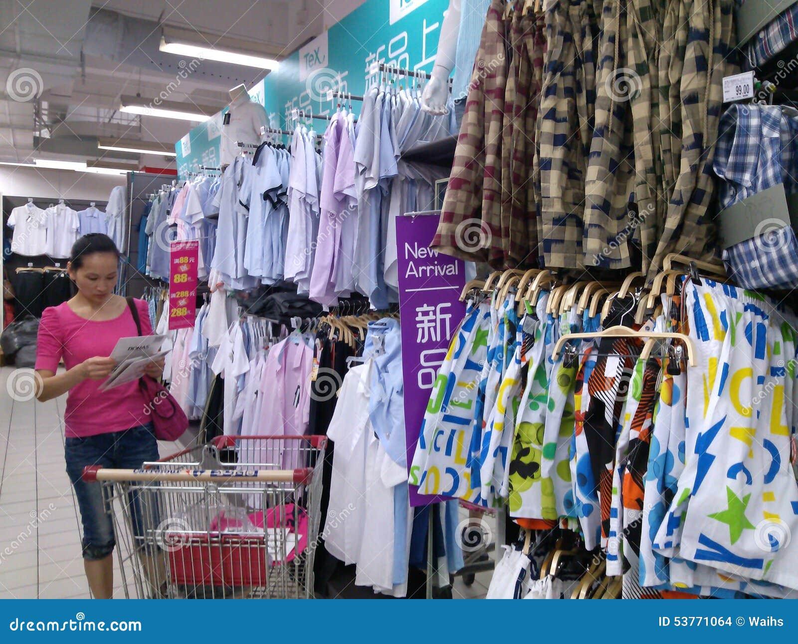 Shenzhen, China: Women Shopping For Goods In Shopping ...