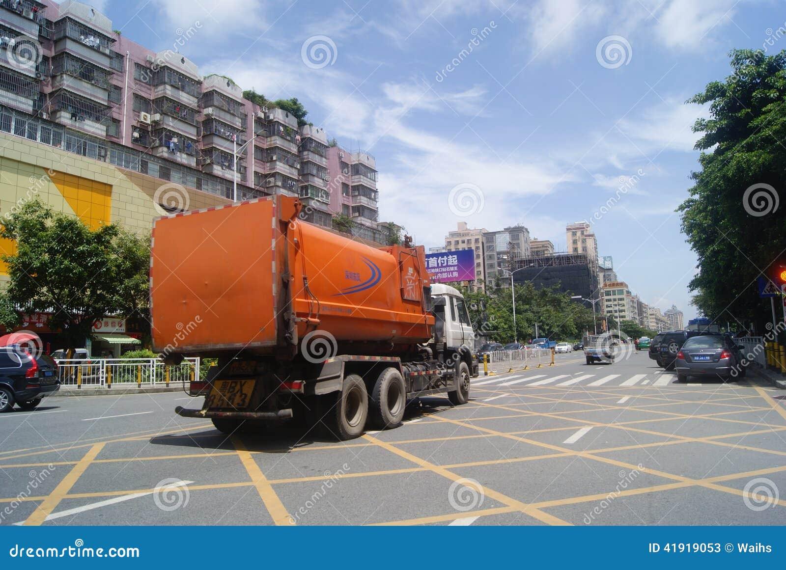 Shenzhen, chino: Tráfico de City Road