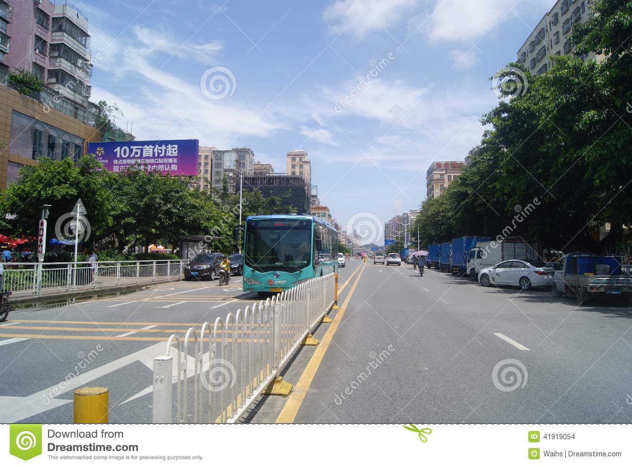 Shenzhen, chino: Tráfico de City Road