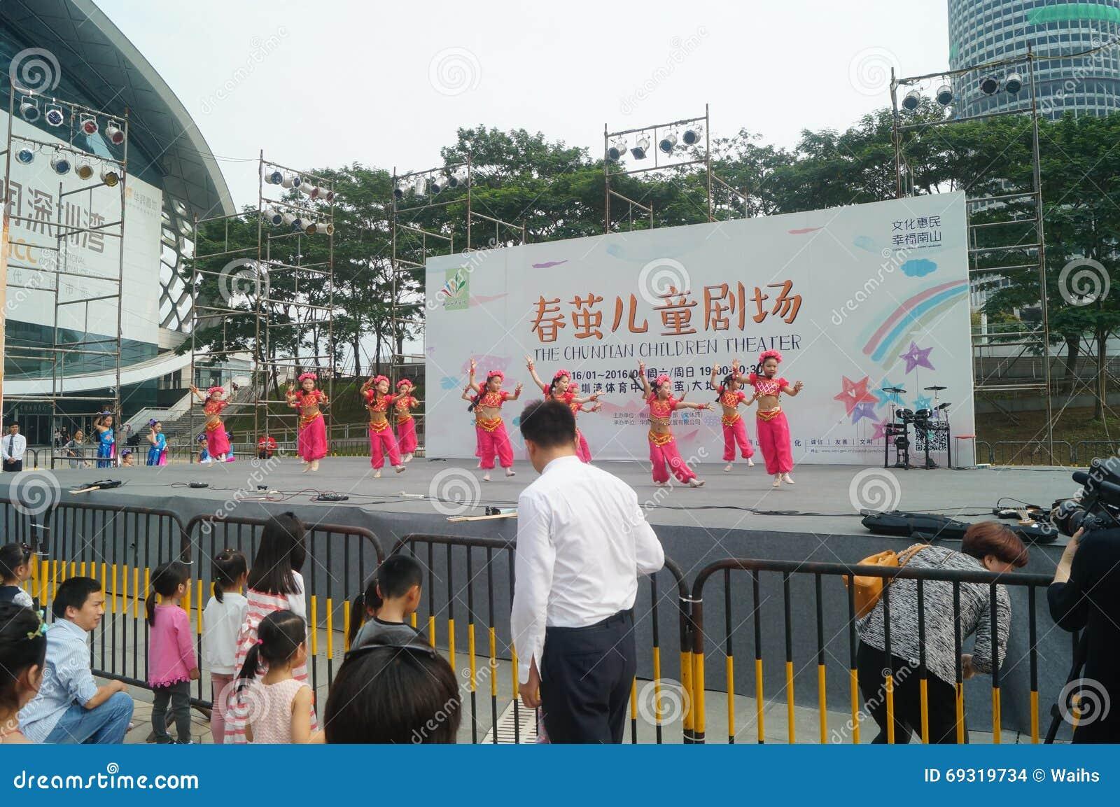 Shenzhen, Chiny: Children muzyka pop festiwal