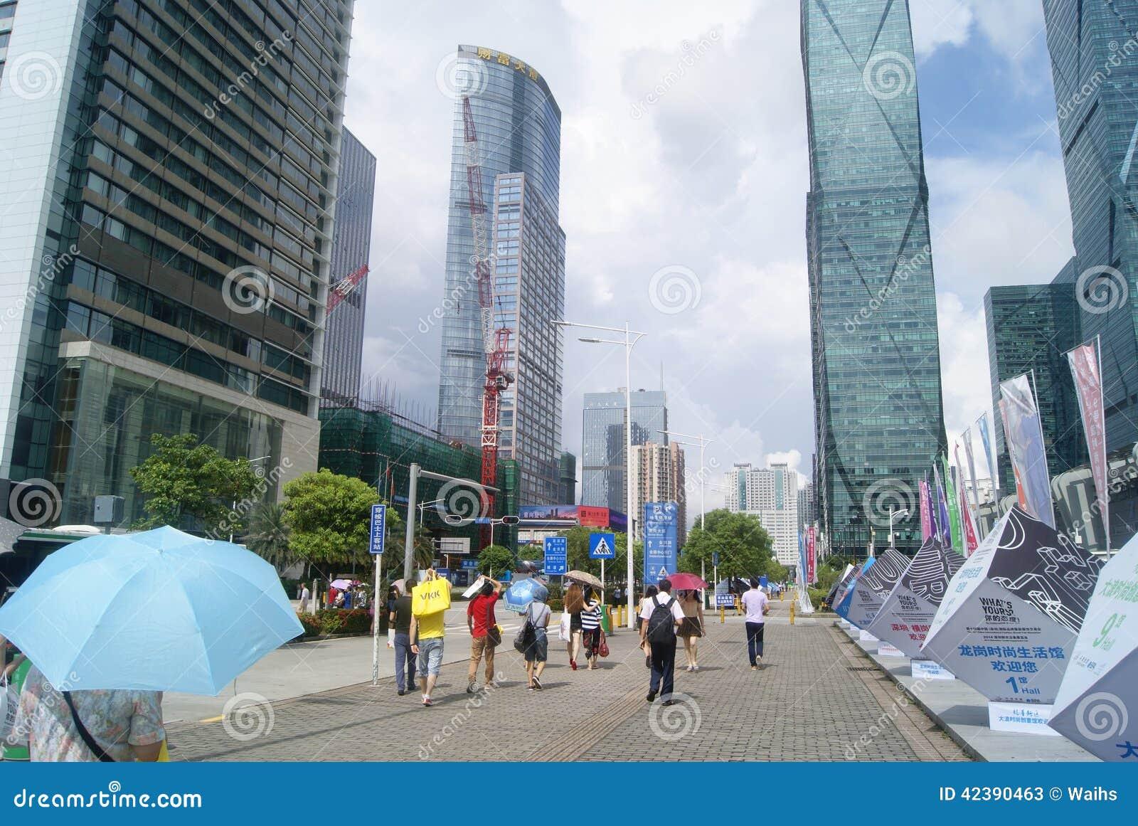 Shenzhen, Chiny: shenzhen konwencja i powystawowego centrum kwadrata krajobraz