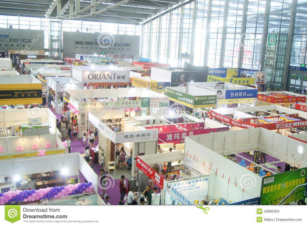 Shenzhen Home Decoration Building Materials Expo Landscape In China Editorial Stock Image
