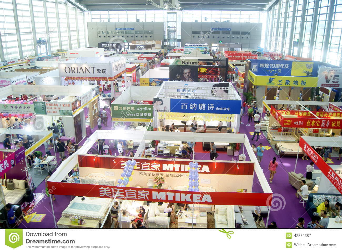 Shenzhen Home Decoration Building Materials Expo Landscape In China Editorial Photography