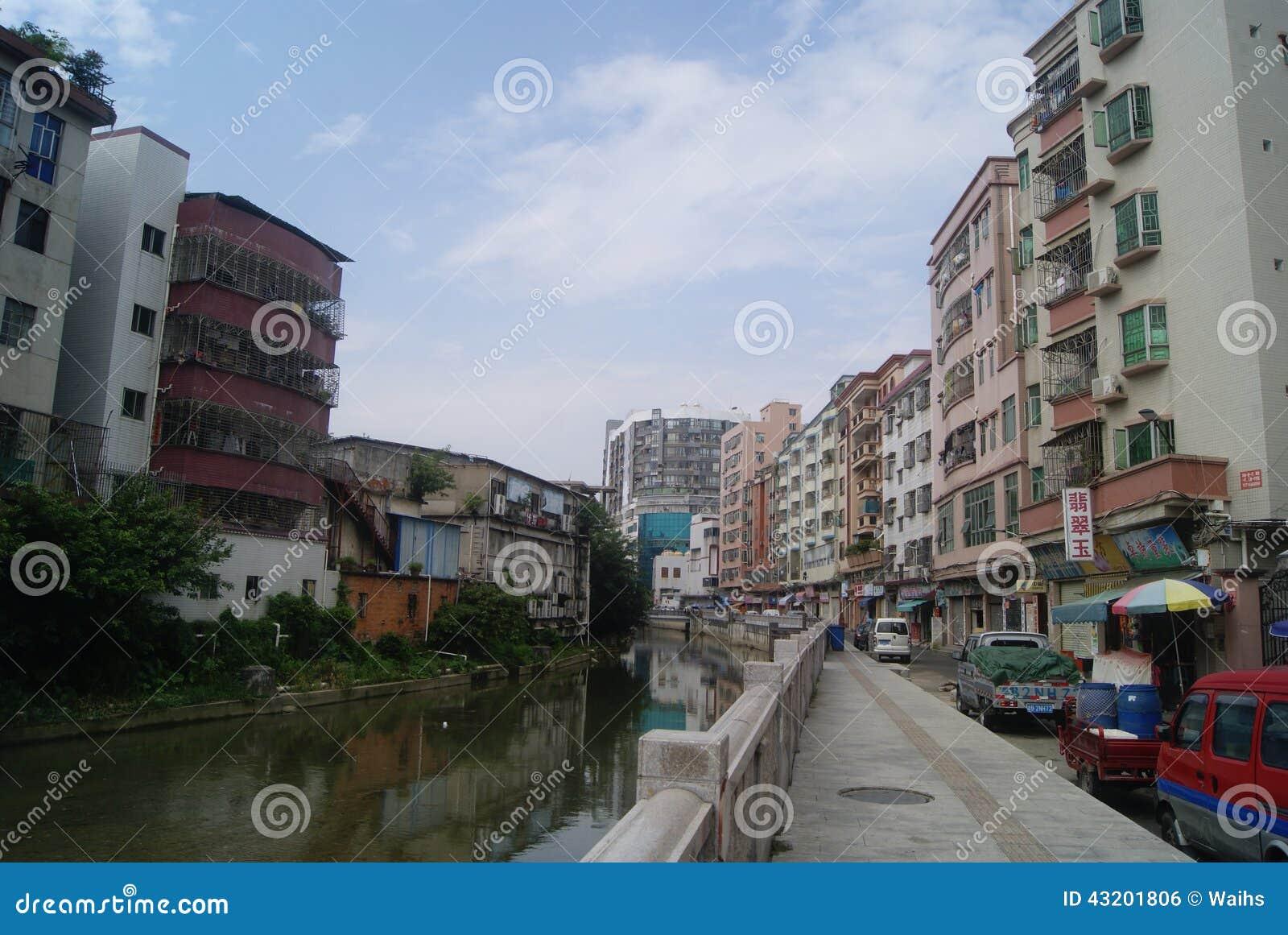 Download Shenzhen Kina: Xixiang Flodlandskap Och Byggnader Redaktionell Bild - Bild av stads, sceniskt: 43201806