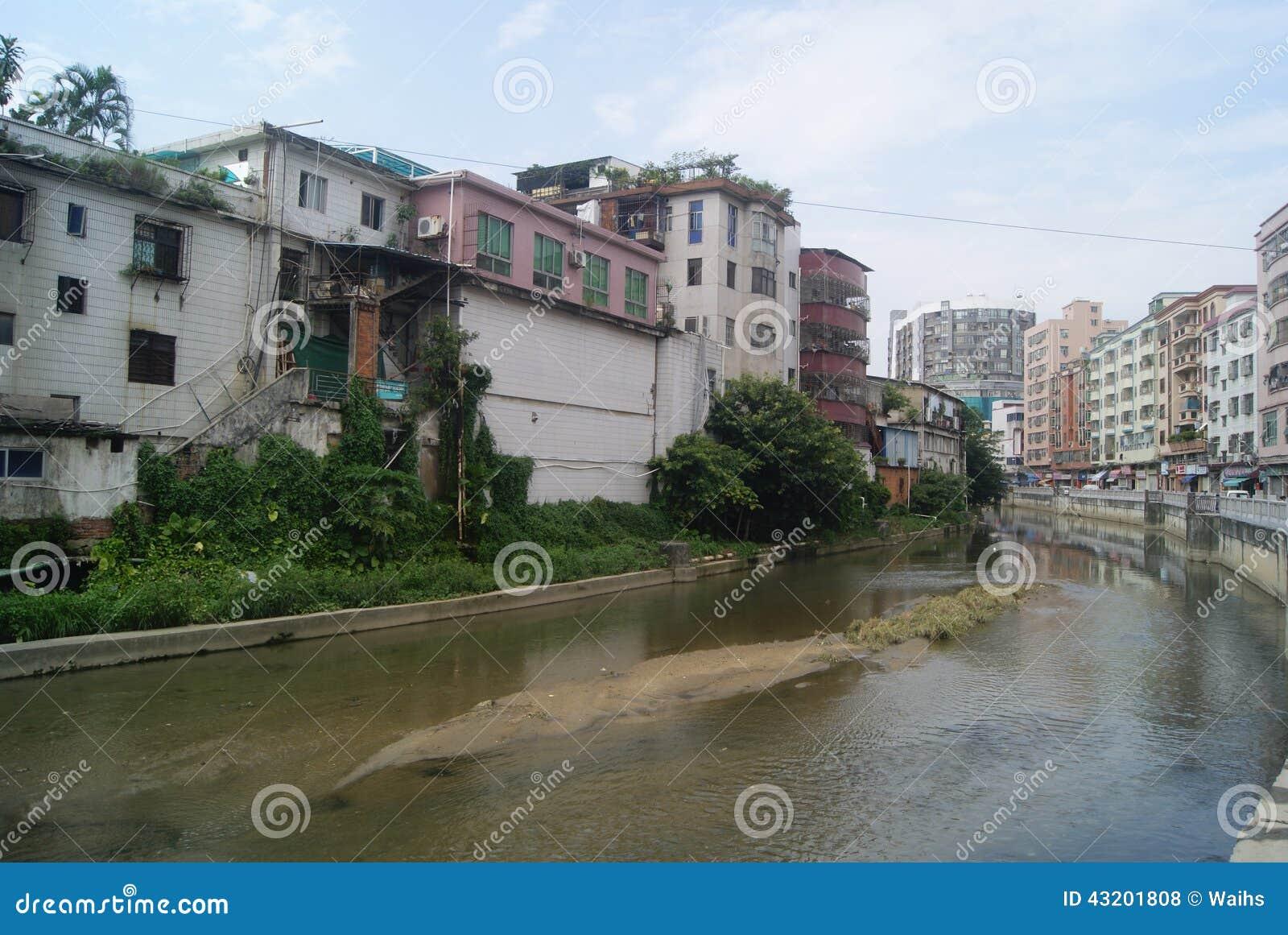 Download Shenzhen Kina: Xixiang Flodlandskap Och Byggnader Redaktionell Arkivfoto - Bild av stad, floder: 43201808