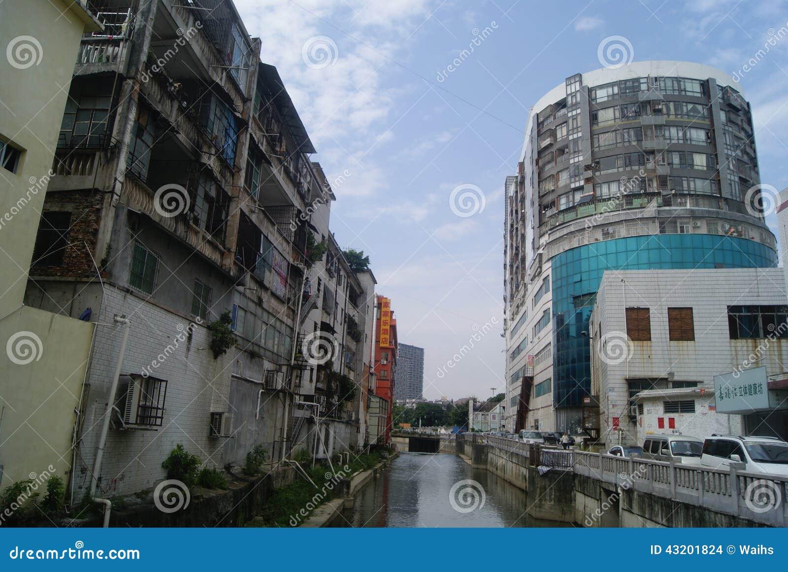 Download Shenzhen Kina: Xixiang Flodlandskap Och Byggnader Redaktionell Fotografering för Bildbyråer - Bild av naturligt, konstruktion: 43201824