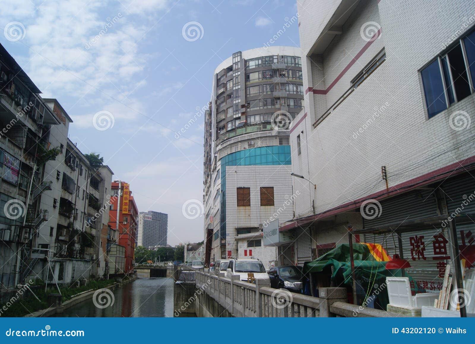 Download Shenzhen Kina: Xixiang Flodlandskap Och Byggnader Redaktionell Foto - Bild av turism, konstruktion: 43202120