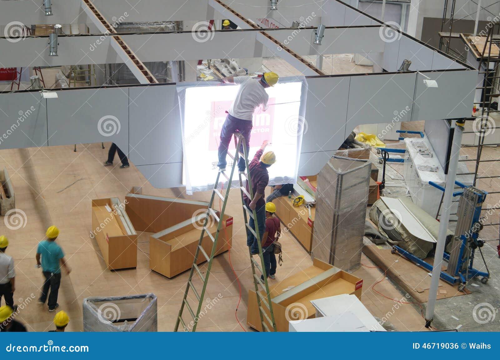 Shenzhen konwencja, Powystawowy centrum pracownicy w budowie i projekt,