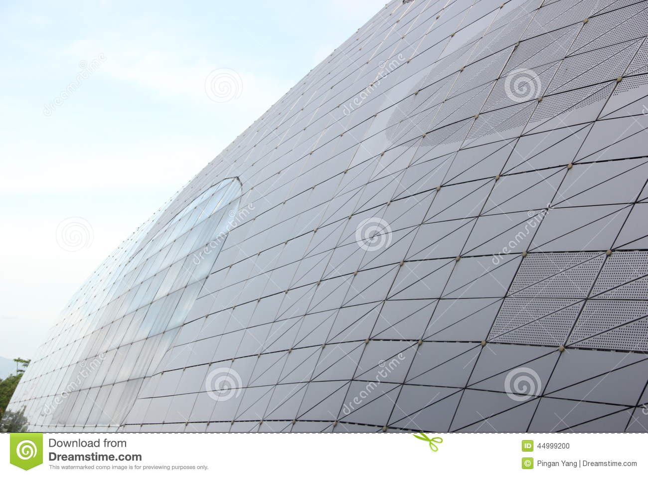 Curved Architecture Shenzhen Modern Curved Surface Architecture Editorial Image