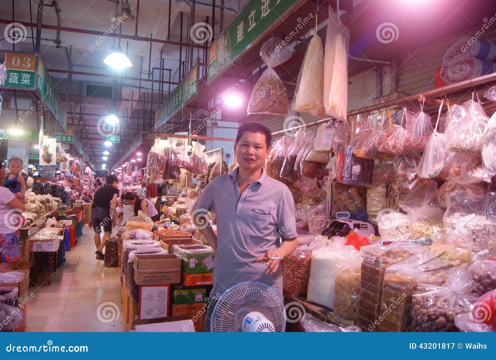 Download Shenzhen Porslin: Bondemarknad Redaktionell Arkivbild - Bild av folk, torrt: 43201817