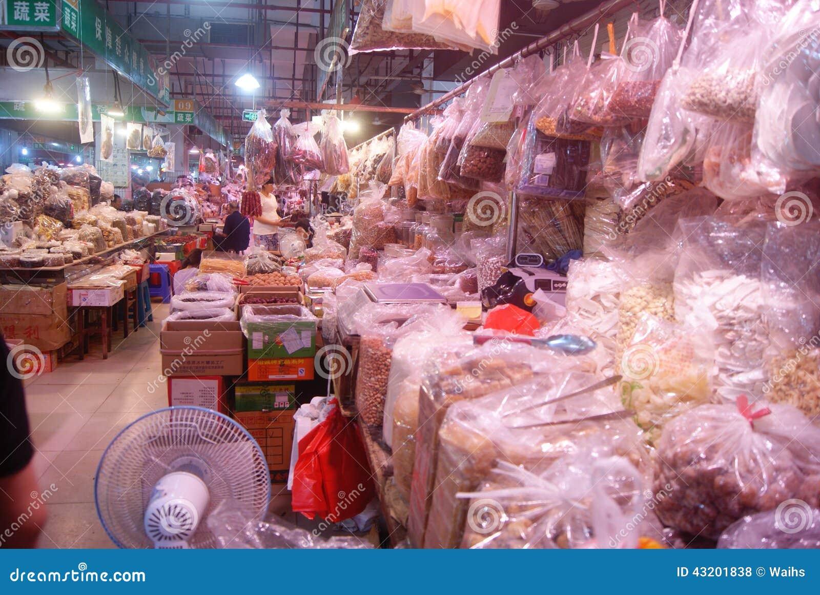 Download Shenzhen Porslin: Bondemarknad Redaktionell Arkivfoto - Bild av aktiverings, godor: 43201838