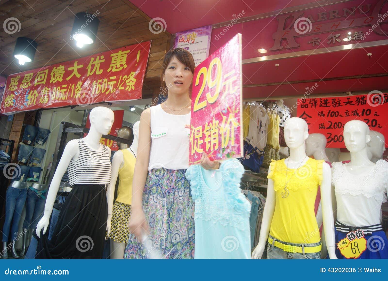 Download Shenzhen Porslin: Klädlager Redaktionell Bild - Bild av plast, turism: 43202036