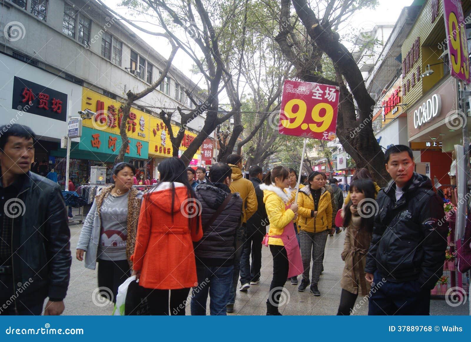 Shenzhen xixiang commerciële voetstraat