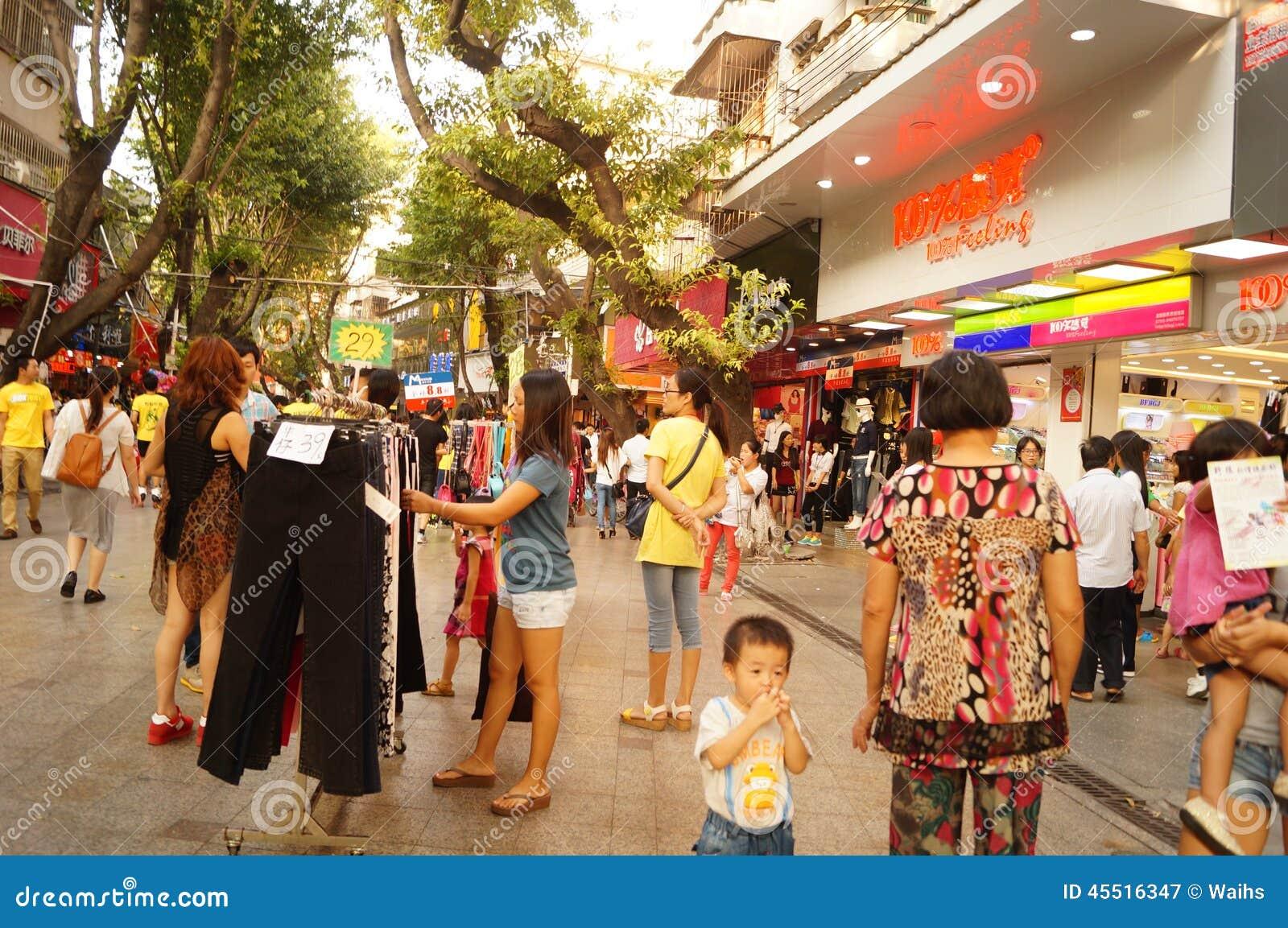 Shenzhen xixiang ulicy handlowy zwyczajny krajobraz