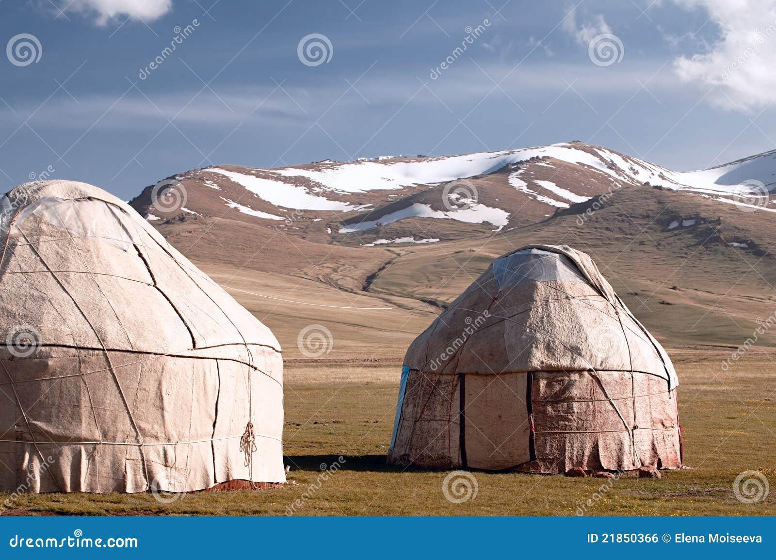 Shepherd yurt in kyrgyzstan Tien Shan mountain