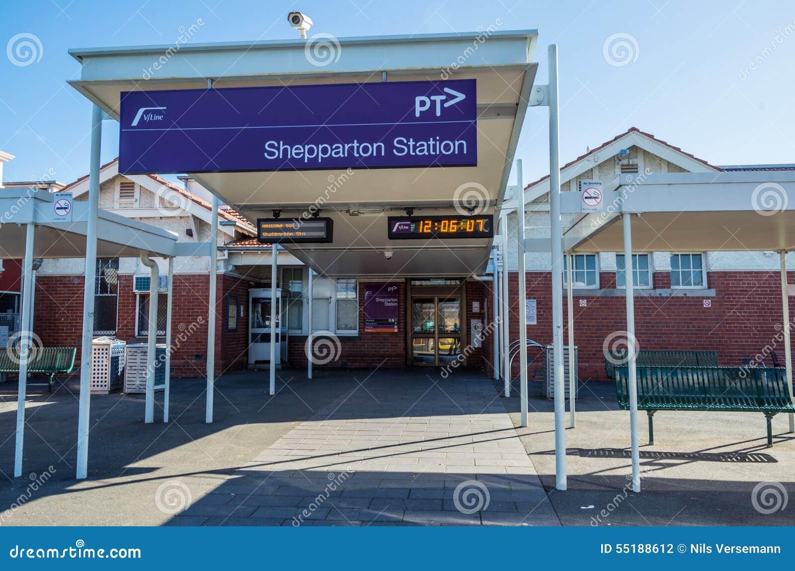 Shepparton Australia  city images : Shepparton, Australia June 8, 2015: the railway station connects ...