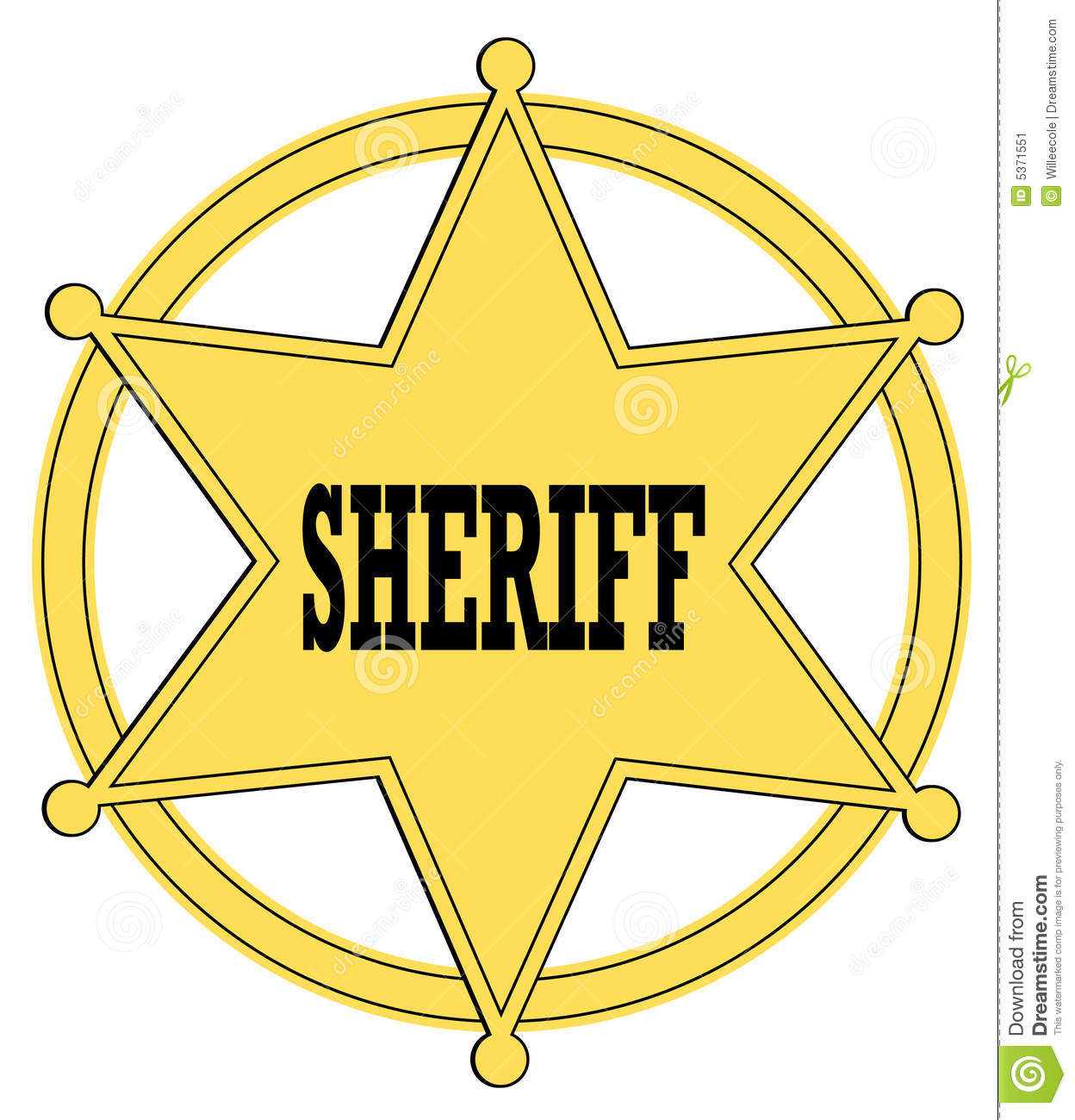 sheriff badge stock vector illustration of illustration 5371551 rh dreamstime com sheriff's badge clip art sheriff badge clipart black and white