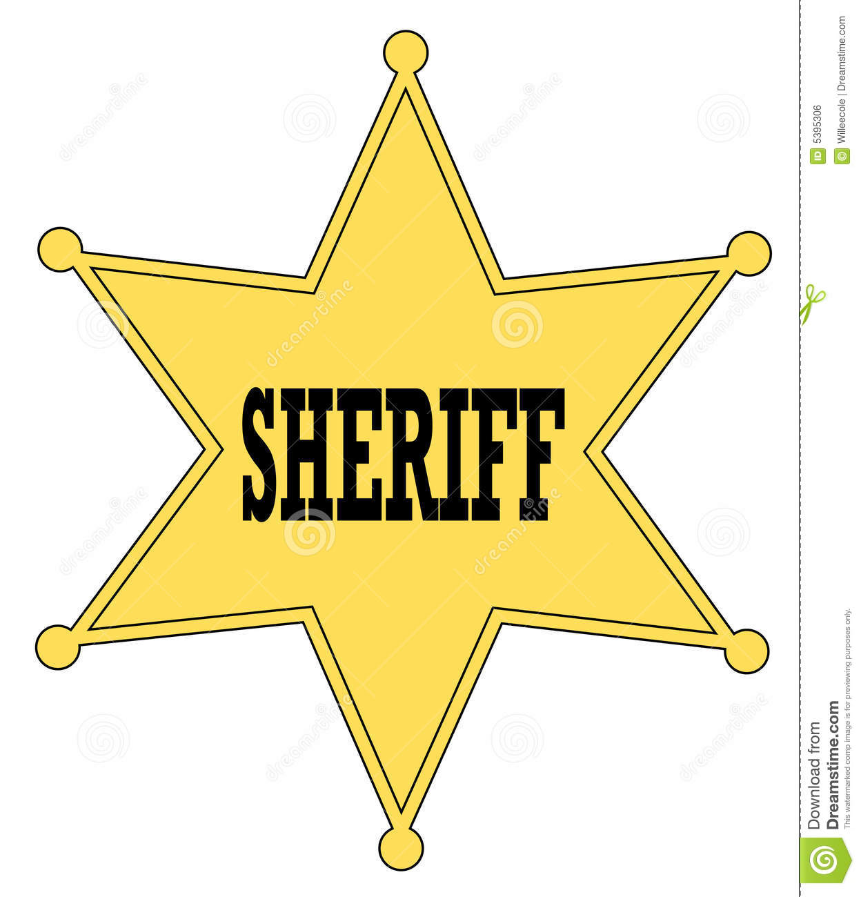 1e848cb2e7b Sheriff badge stock vector. Illustration of cowboy