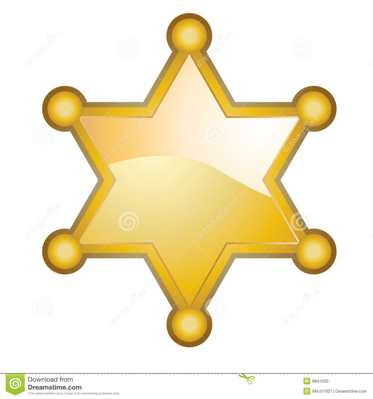 Sheriff Badge Stock Photo - Image: 8841930