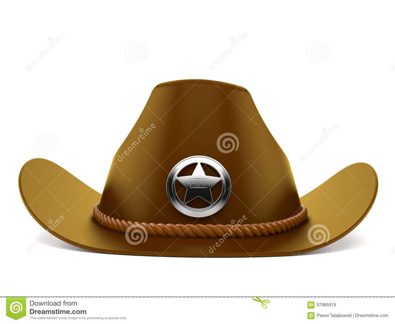 dd23a654 Sheriff hat isolated on white background. More similar stock illustrations