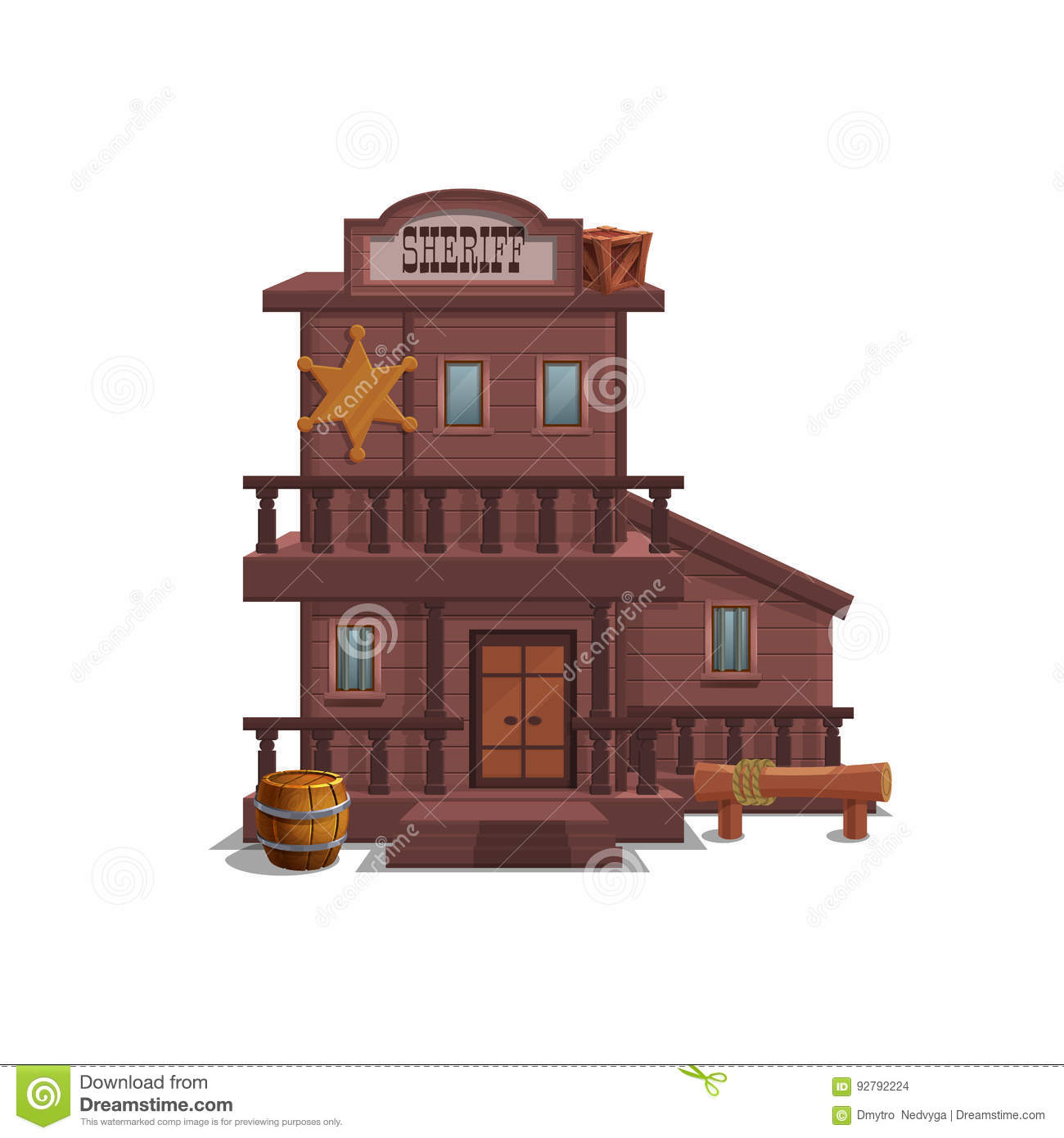 Sheriff House For Western Town For Game Level And