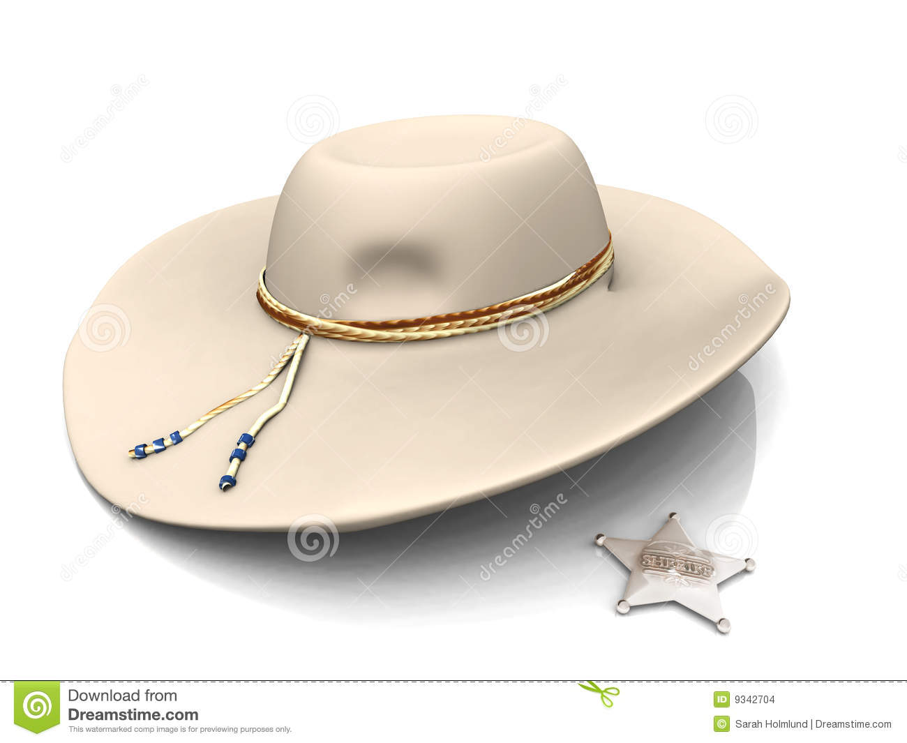 4192a81f Sheriff's Hat And Sheriff's Star. Stock Illustration - Illustration ...