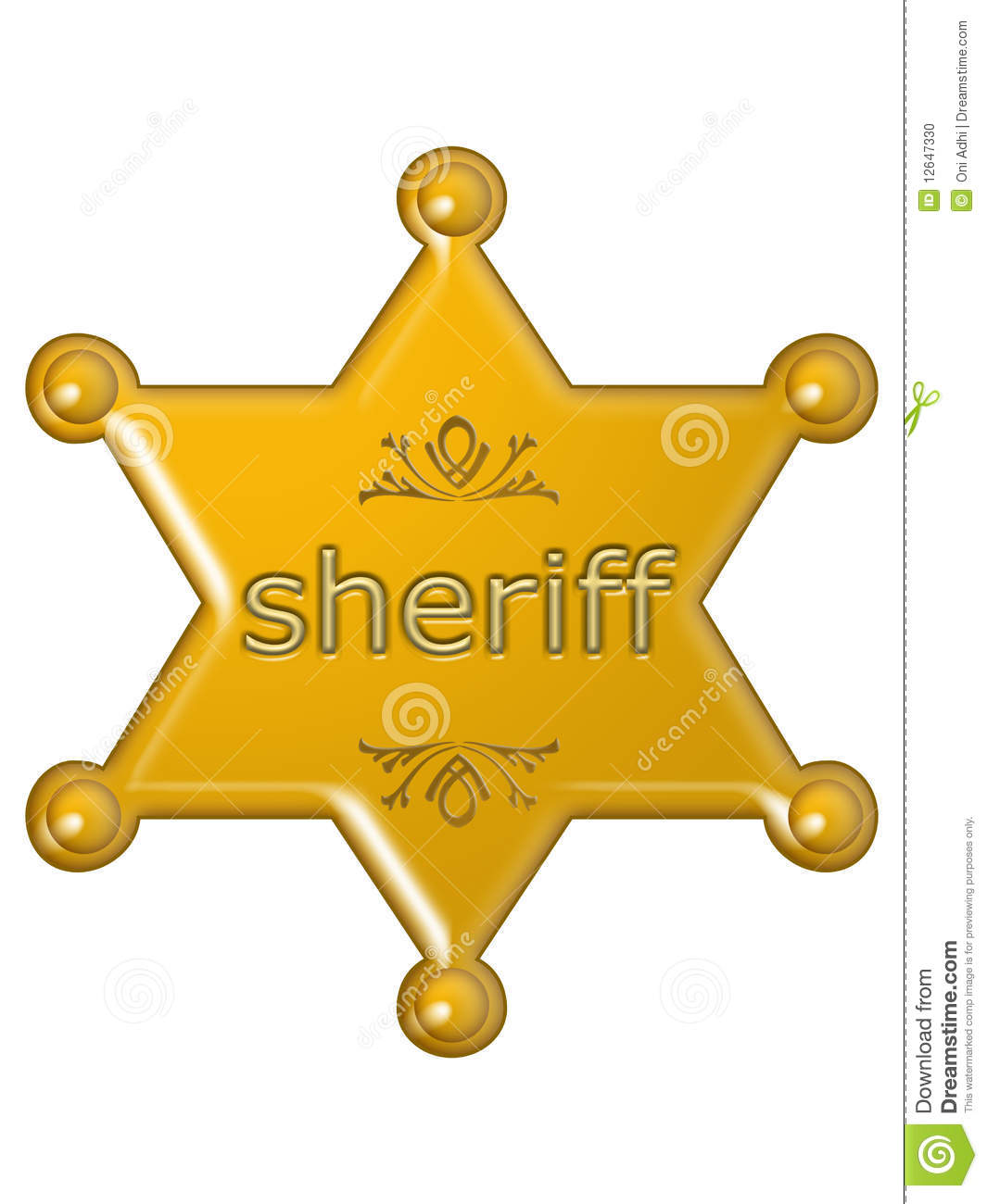 Stock Photo Sheriff Star Image12647330 on award graphics clip art
