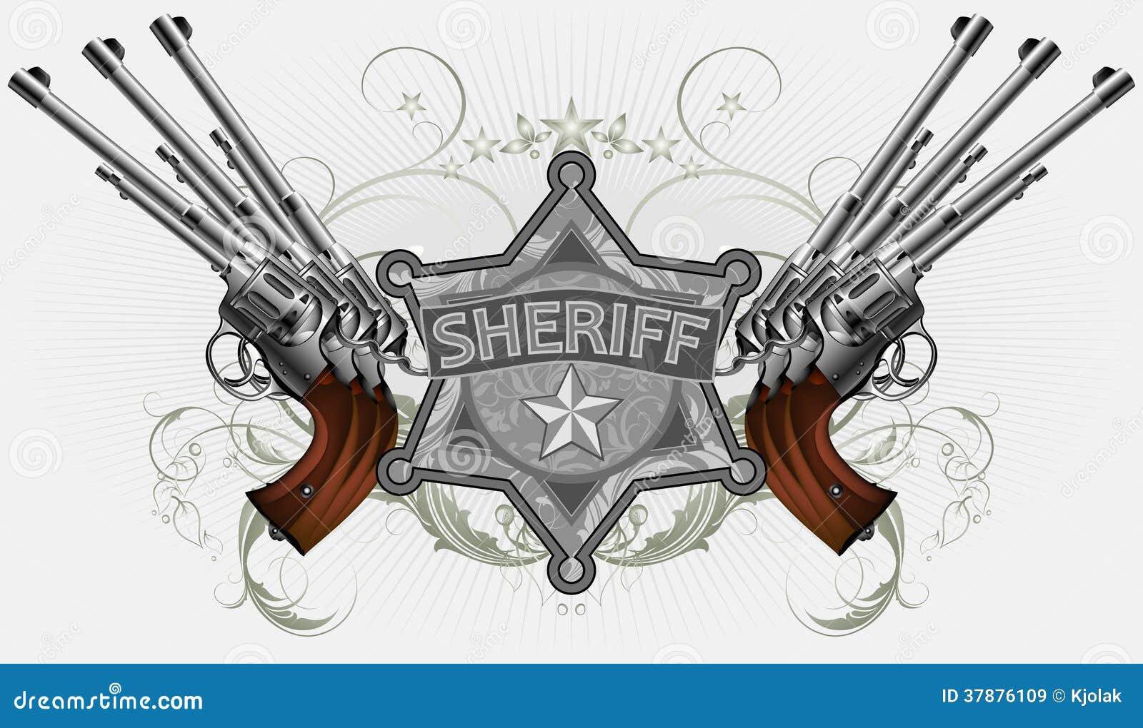 Sheriffster met kanonnen