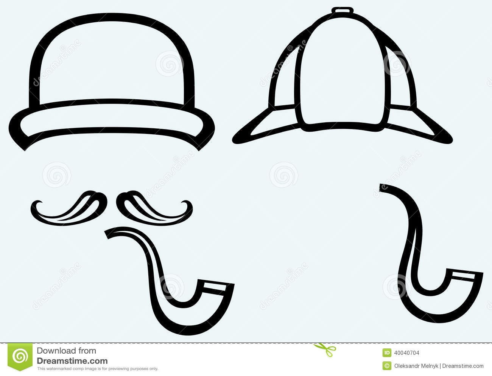f2ab045f3 Sherlock Holmes. Icon Detective Stock Vector - Illustration of cigar ...